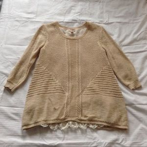 Long Sleeve Women's Knit Blouse.